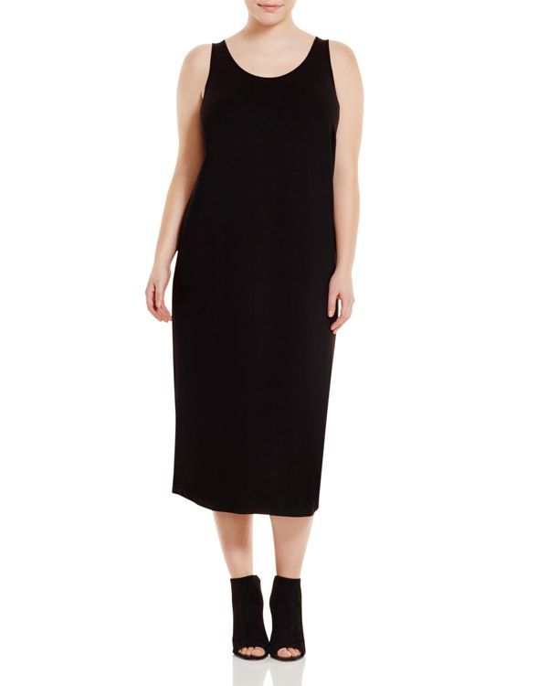 114389e56e Eileen Fisher Plus System Scoop Neck Maxi Dress