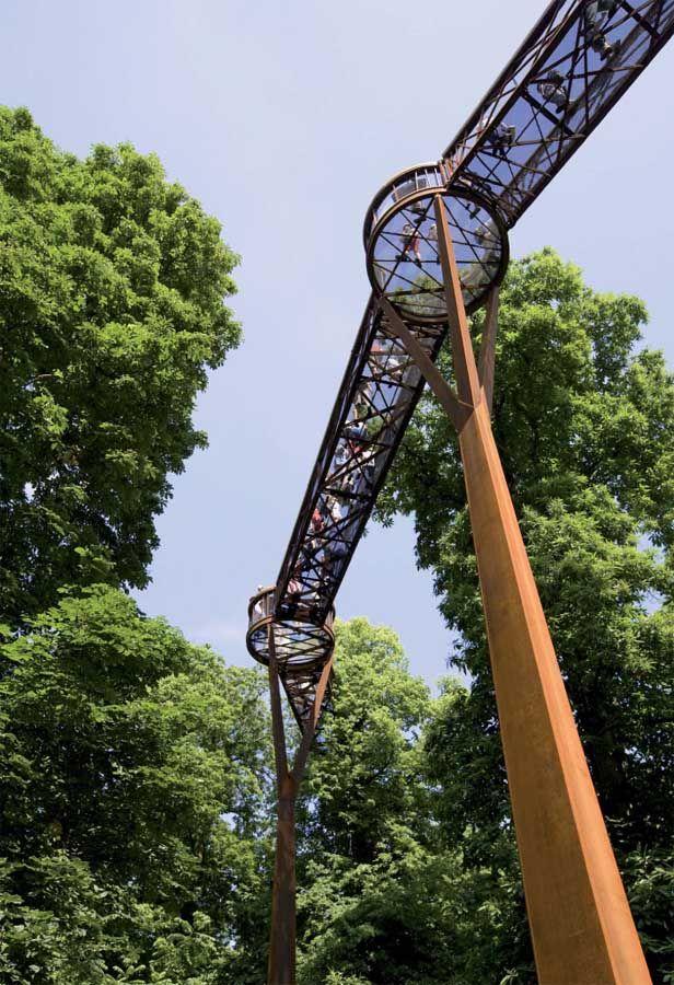 Footbridge In Kew Gardens, London