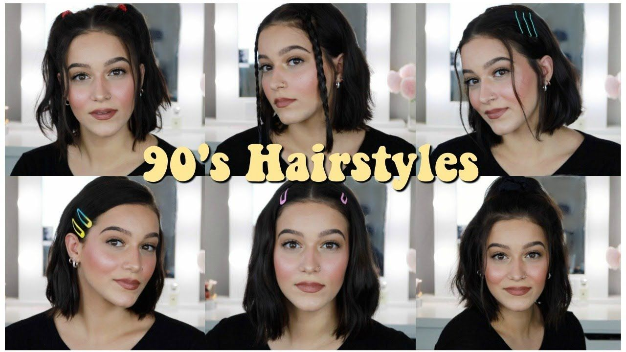 Easy 90\u0027s Inspired Aesthetic Hairstyles For Short Hair! 2019