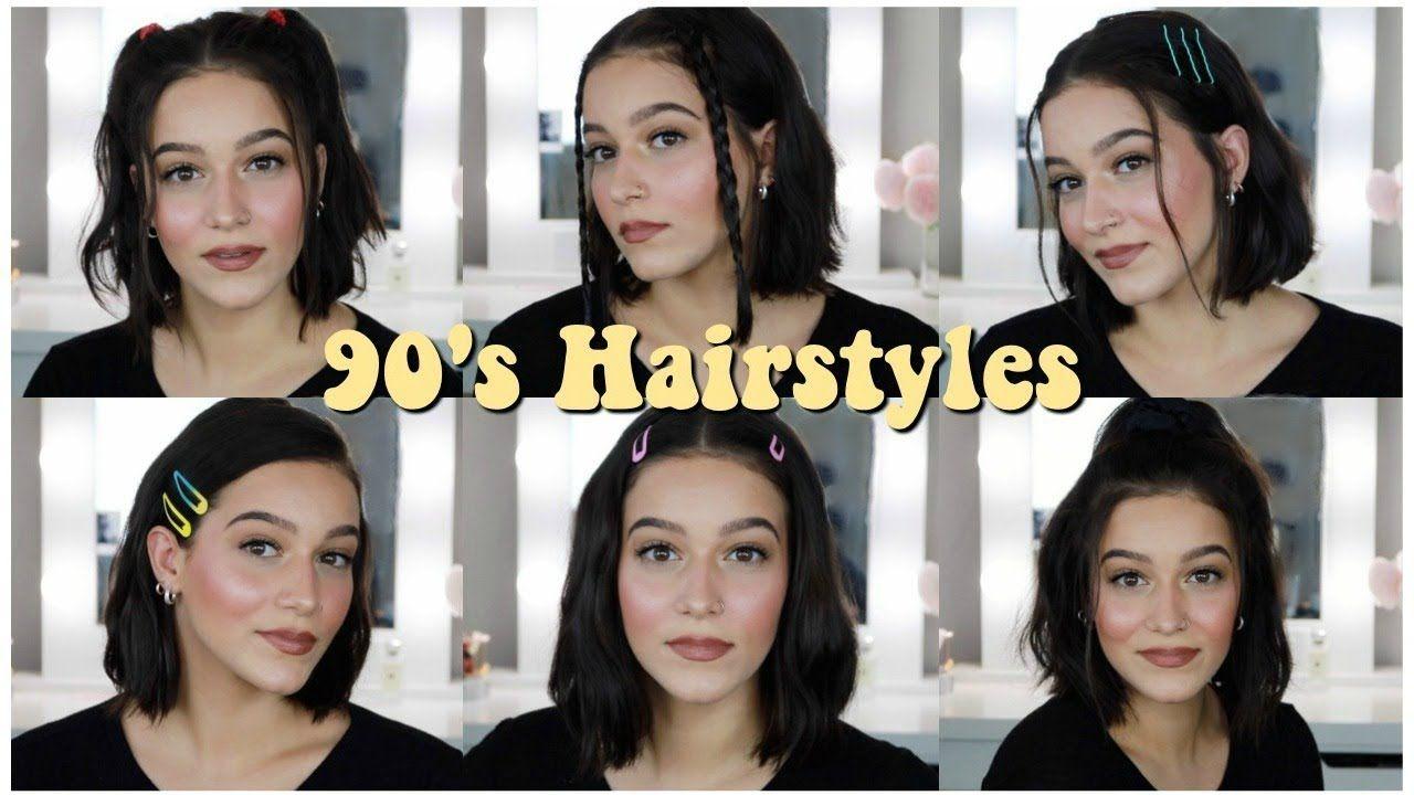 Easy 90 S Inspired Aesthetic Hairstyles For Short Hair 2019 Youtube Aesthetic Hair Cute Hairstyles For Short Hair Short Hair Styles Easy