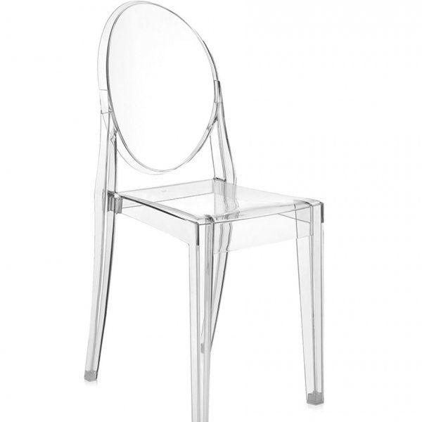 Noleggia sedia Kartell Victoria Ghost Trasparente per il ...