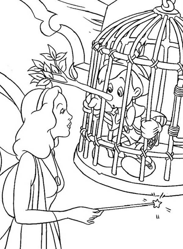 Blue Fairy Is Trying To Help Pinocchio Coloring Pages Bulk Color Disney Coloring Pages Coloring Pages Blue Fairy