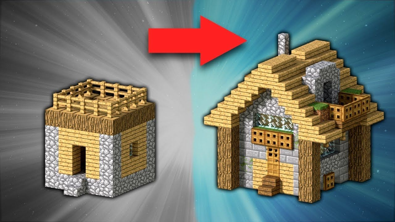 How to Transform a Village Small House  Minecraft  Minecraft