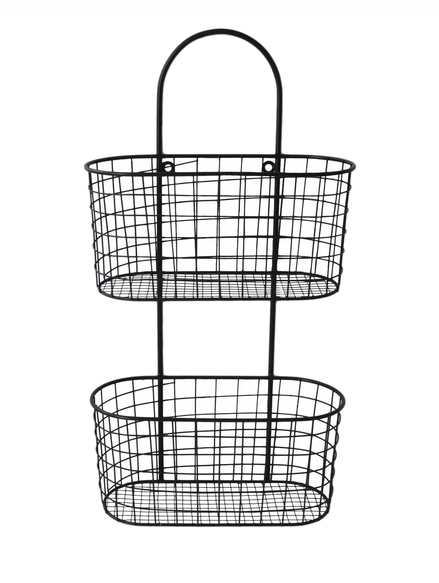 Metal Wall hanging Storage Basket Products Pinterest