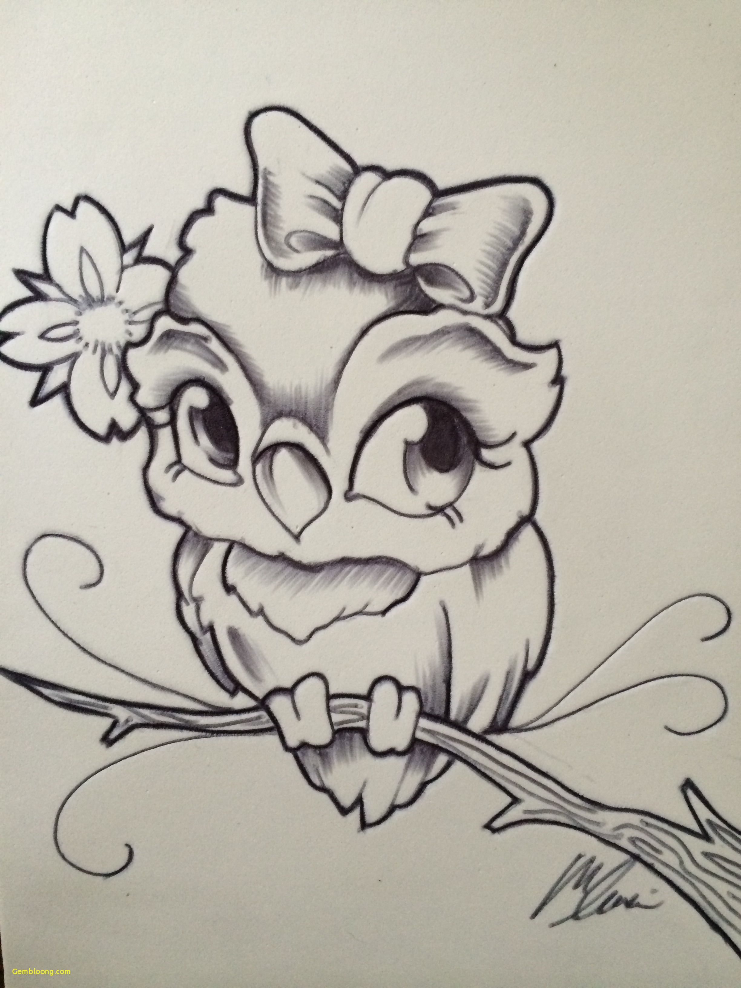 29 How to Draw An Owl Easy attractive New School Owl by ...