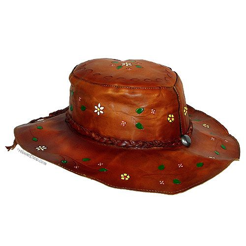 Classic Leather Flower Power Hat on Sale for  29.95 at HippieShop ... d2d01109114