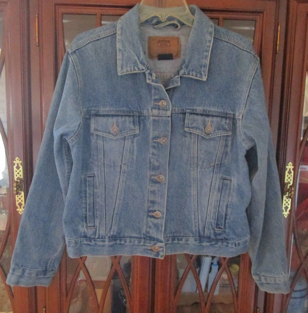 3241c94aef62d2 Route 66 Jacket Womens Blue Jean Denim Trucker Size Large  Route66   JeanJacket  Casual