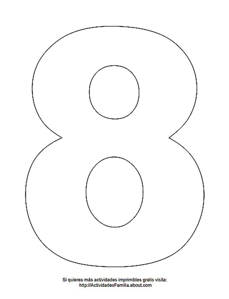 Dibujos de números para colorear: Número 8 para colorear | lolis ...