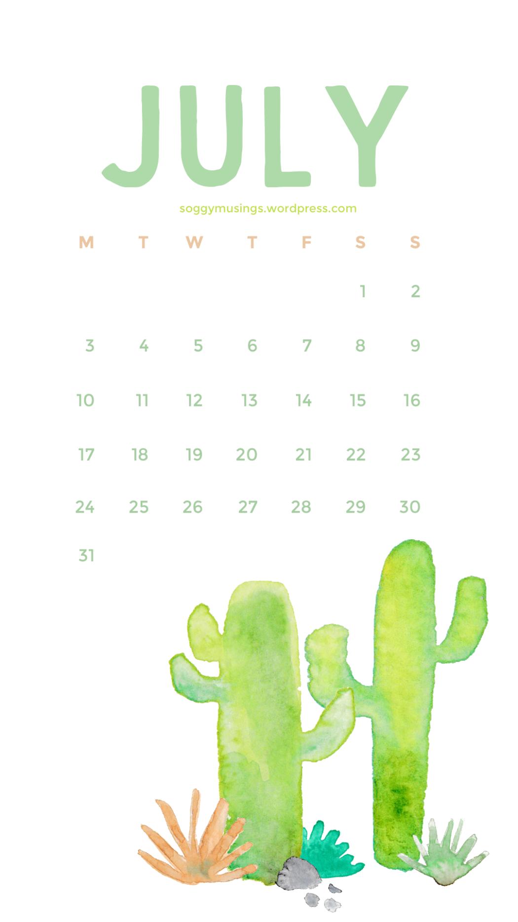 July 2017 Wallpaper Calendar