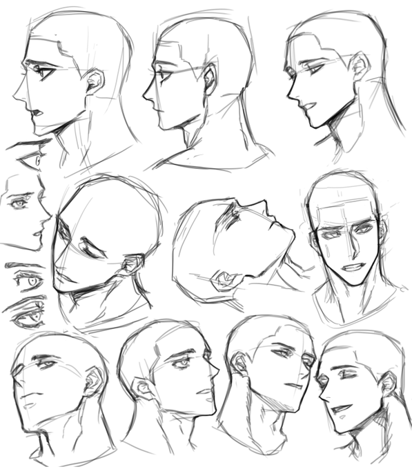 Pin By Camille Yu On M Drawing Expressions Face Drawing Reference Male Face Drawing Anime Poses Reference Anime hairstyle reference guide for your next haircut otakusmash. face drawing reference