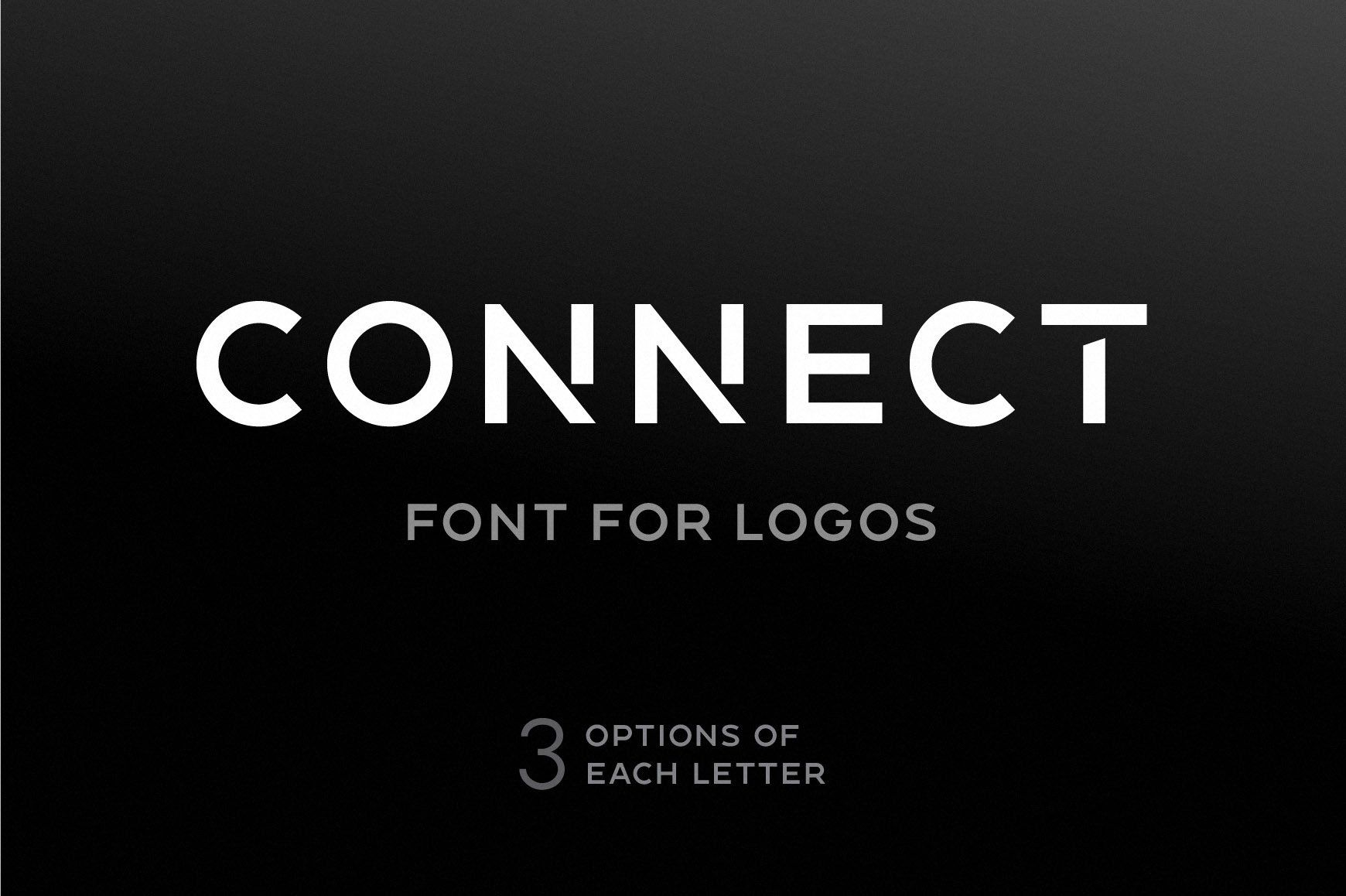 Connect Font For Logos in 2020 Lettering, Fonts
