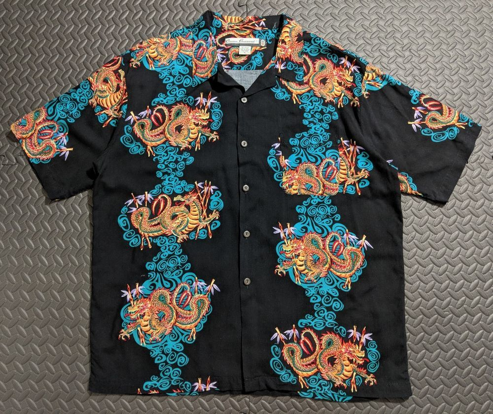 edd54e19 Chinese Dragon Art, Vintage Hawaiian Shirts, Bowling Shirts, Aloha Shirt,  Vintage Men