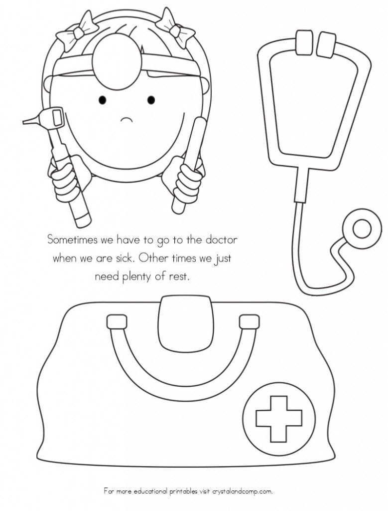 kids coloring pages doctor kit - photo#24