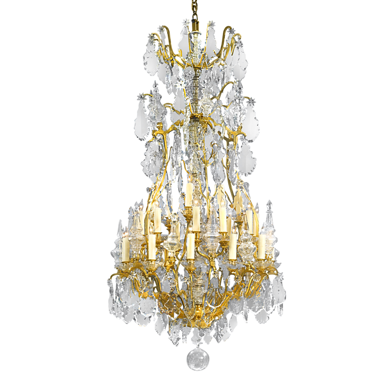 Thirty light baccarat crystal chandelier lighting since 1912 thirty light baccarat crystal chandelier lighting since 1912 ms rau antiques aloadofball Image collections