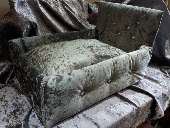 Best Luxury Crushed Velvet Upholstered Dog Cat Bed Diy Dog 400 x 300