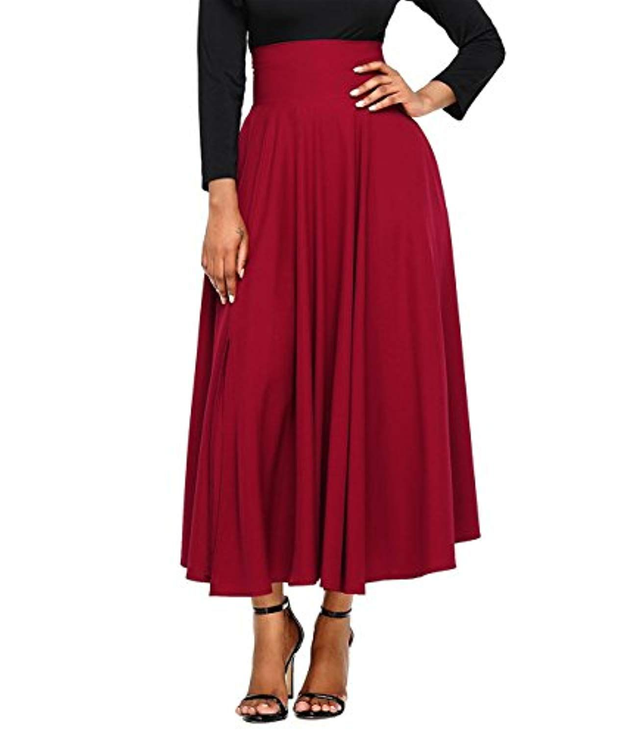 af2c997543a942 Women's Plus Size Vintage High Waist Pleated A Line Swing Long Skirt Buy  One Get One * Learn more by visiting the image link. (This is an affiliate  link) # ...