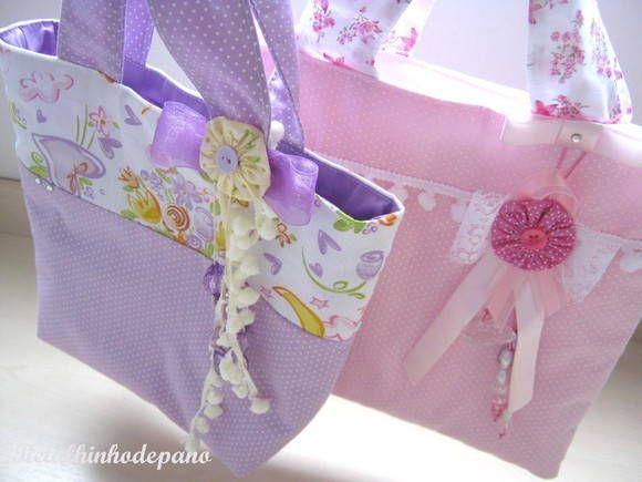 Bolsa de mão Menina Flor