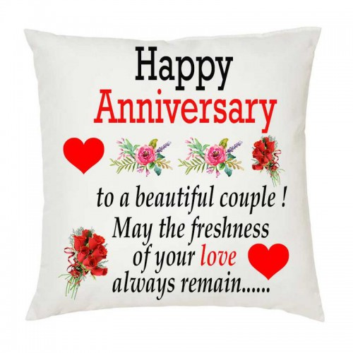 Juvixbuy Happy Anniversary 002 Printed White Square Shaped