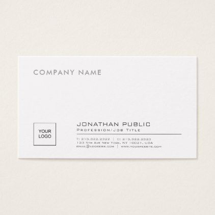Create your own stylish company plain with logo business card reheart Gallery