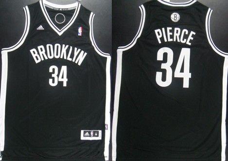 promo code afeff e693a Brooklyn Nets #34 Paul Pierce Revolution 30 Swingman Black ...