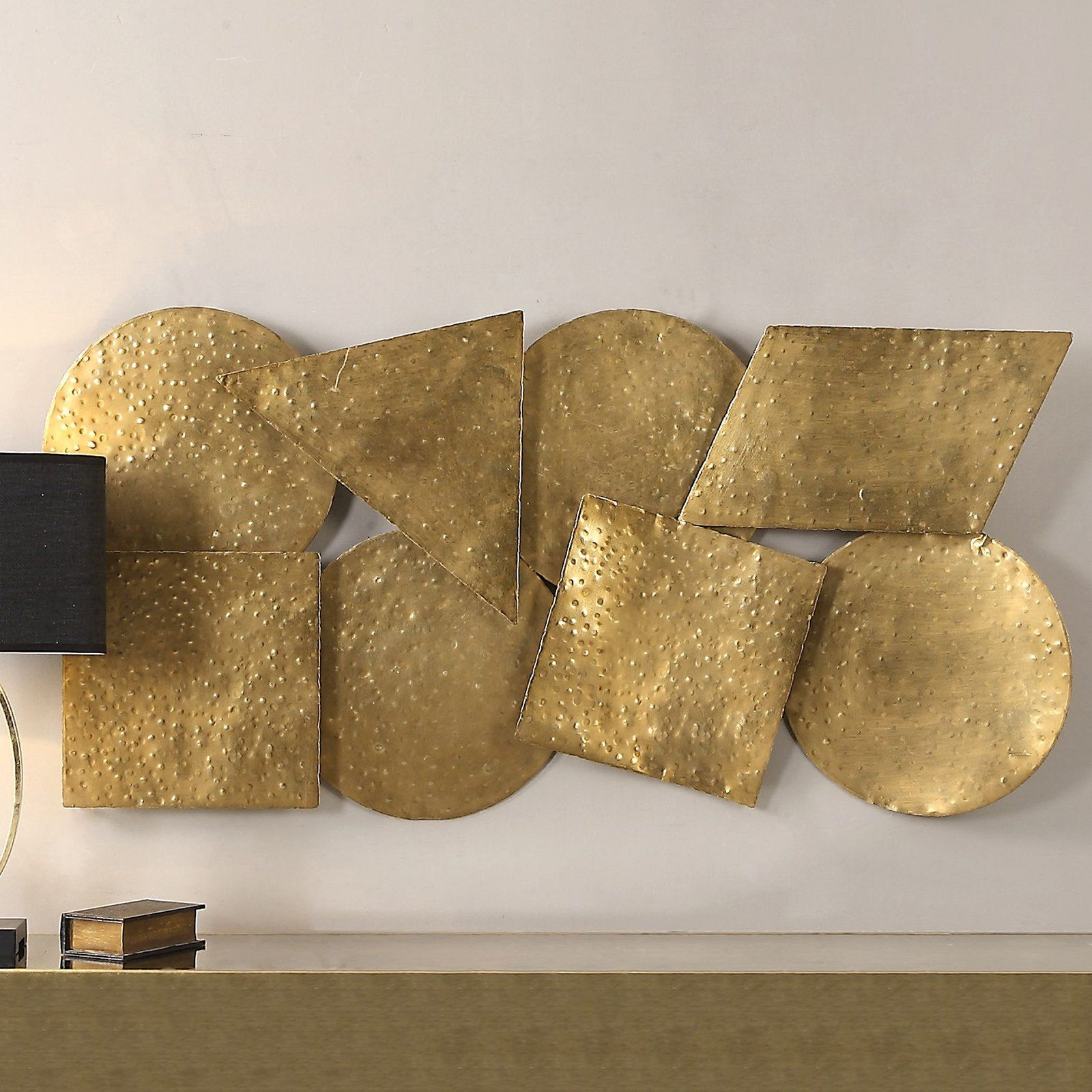 Uttermost arrigo gold wall art w x h in from hayneedle