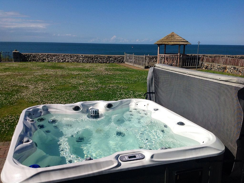 Cemaes Bay cottage rental Luxury hot tub with sea view