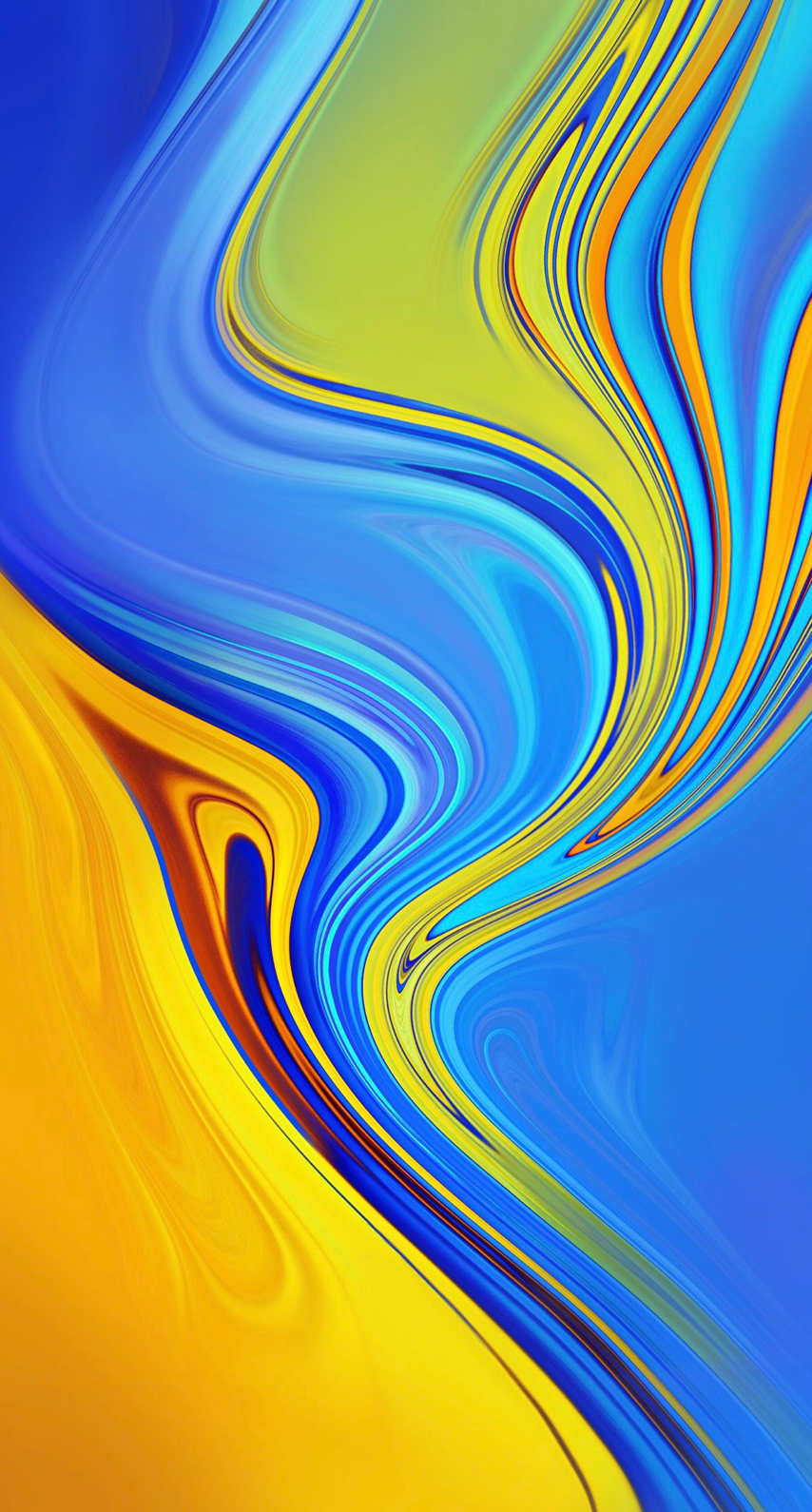 Colourful Fluid Ink Photography Blue And Yellow Abstract Art Colorful Decor Texture For Iph Android Wallpaper Art Samsung Wallpaper Android Wallpaper Abstract