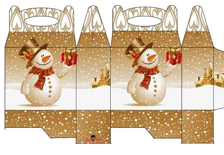 Free Printable Christmas Gift Box Templates.Snowman Box Noel Pinterest Snowman Box And Christmas