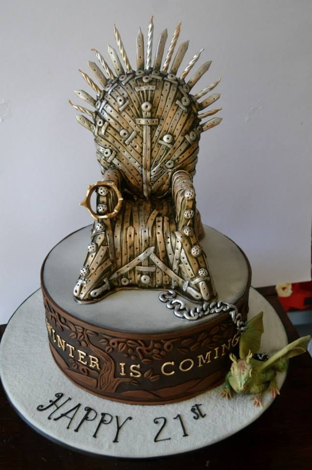 Iron Throne Birthday Treat With Dragon With Images Game Of