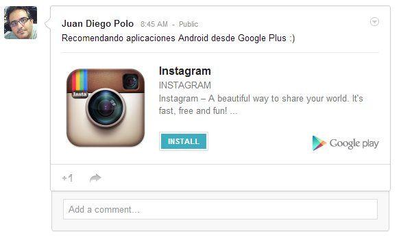 Ya podemos instalar #aplicaciones #Android directamente desde #GooglePlus