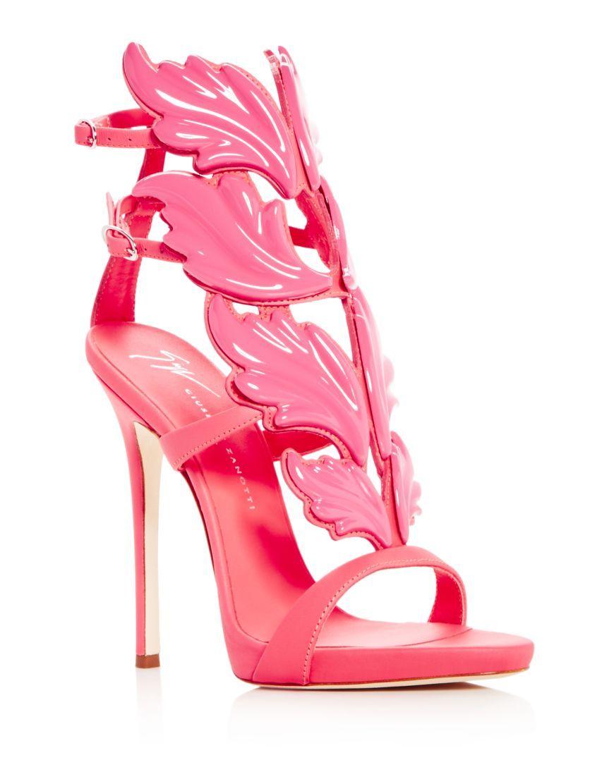 50346a0f940a8 Giuseppe Zanotti Women's Cruel Coline Leather Wing Embellished High Heel  Sandals