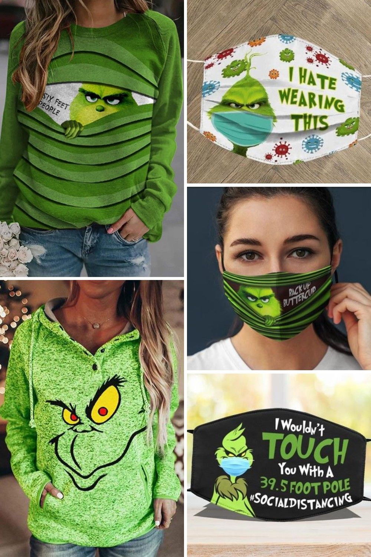 Women's Christmas Grinch Hoodies & Masks