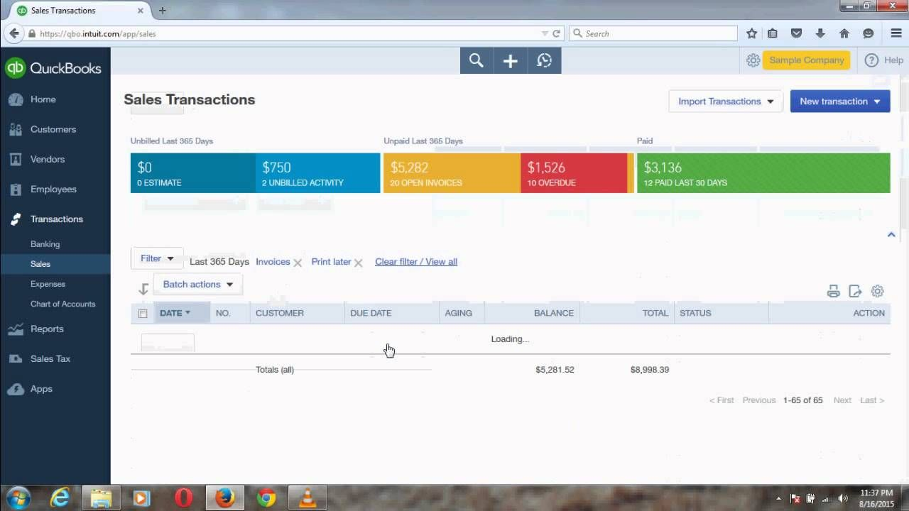 Retrieve Print Later Invoices In QuickBooks Online QuickBooks - Quickbooks electronic invoicing