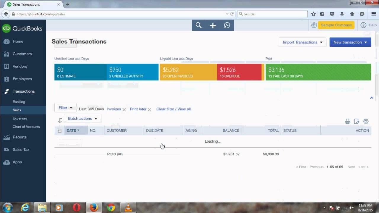 Retrieve Print Later Invoices in QuickBooks Online