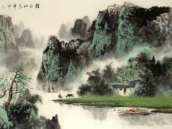 Guilin Landscape Painting Guilin Holiday Chinese Landscape Painting Chinese Landscape Landscape Painting Images
