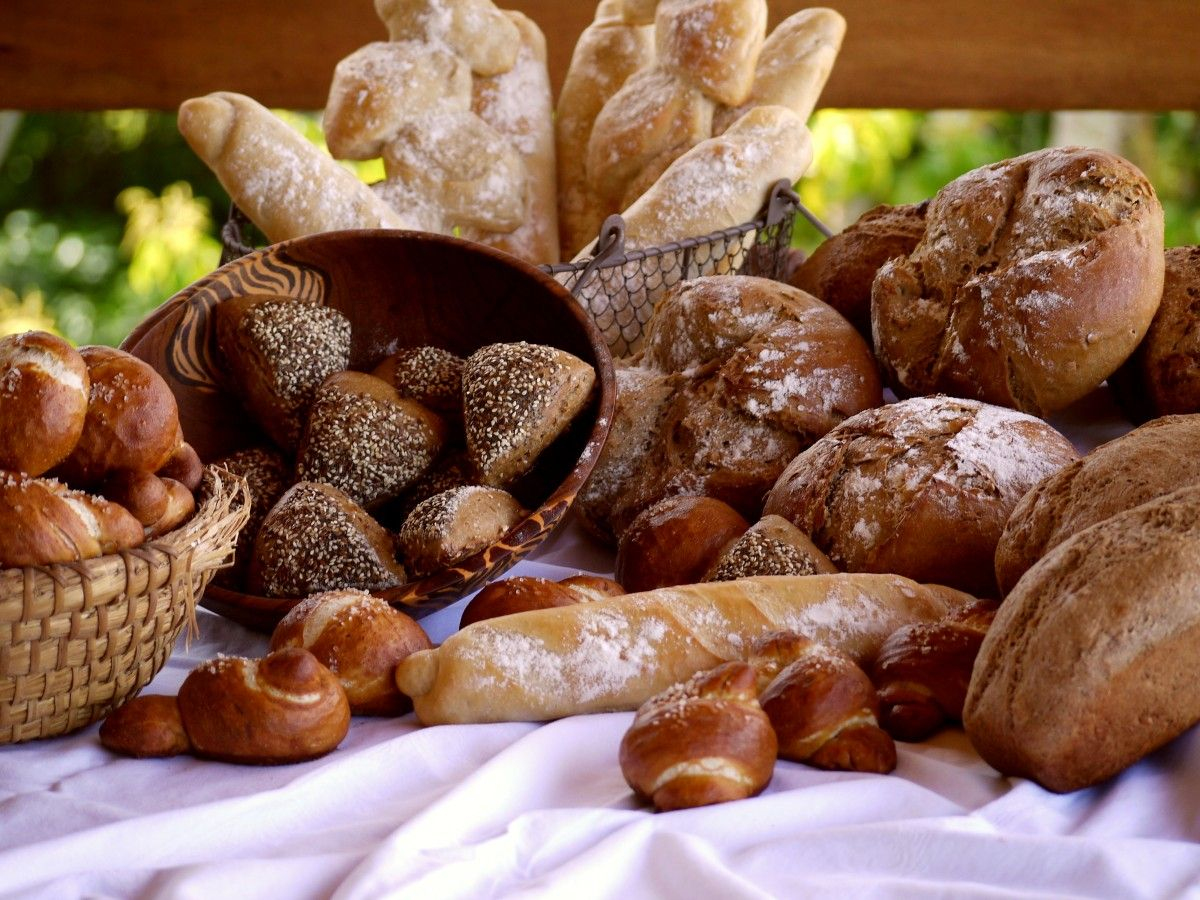 Breakfast with homemade breads by Vanilla Hills Soulfood.
