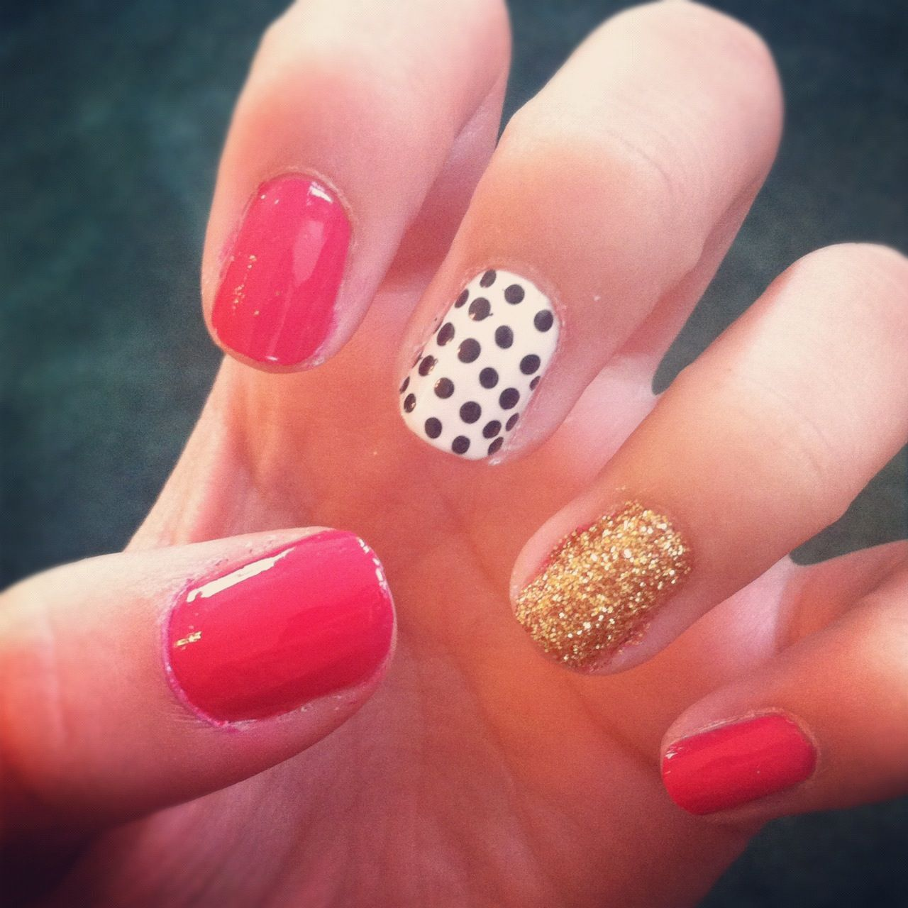 Kate Spade inspired :) | gotta love them nails | Pinterest | Bridal ...