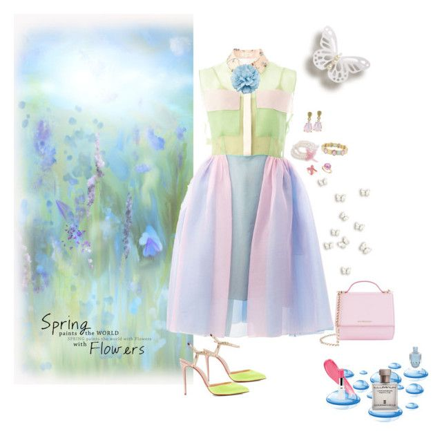 """Pretty Pastels"" by deborah-518 ❤ liked on Polyvore featuring Delpozo, Christian Louboutin, Givenchy, Carolee, Monet, Hueb, Gucci and Illuminum"