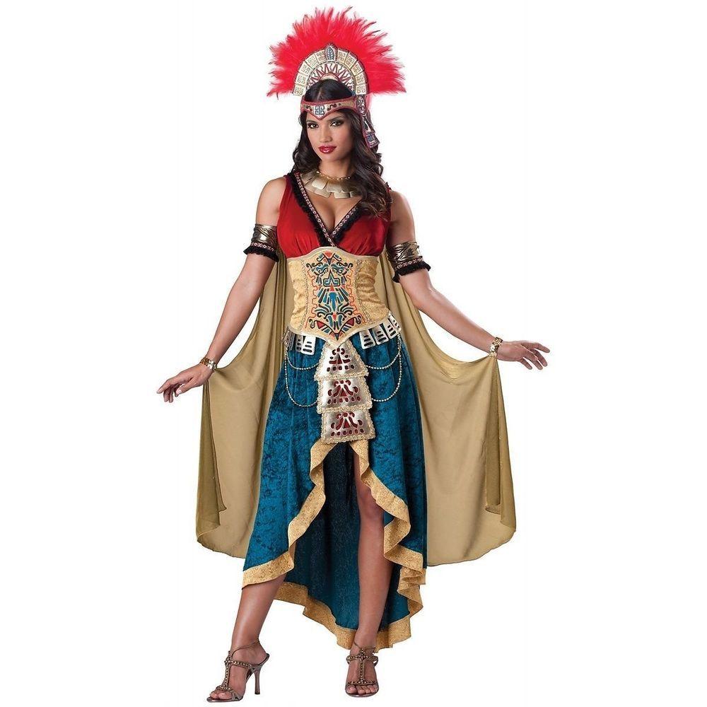 Halloween Mayan Costume Women Lady Aztec Queen Indian Mexican ...
