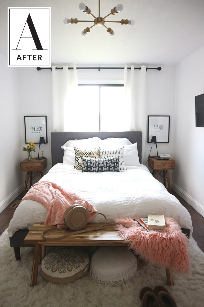 Master bedroom before and after  Before u After A Cozy and Minimal Master Bedroom in   New apt