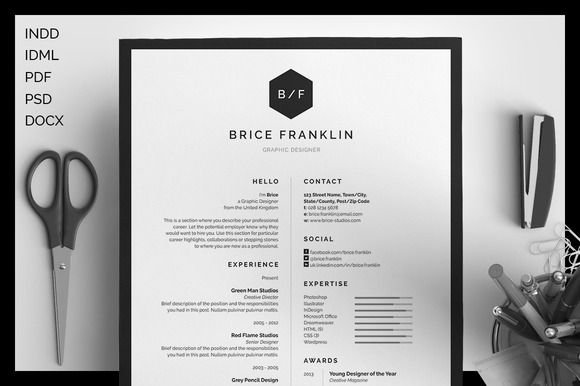 Download a Free Resume Template  More \u2014 This Week Only! ~ Creative - Resume For Graphic Designer