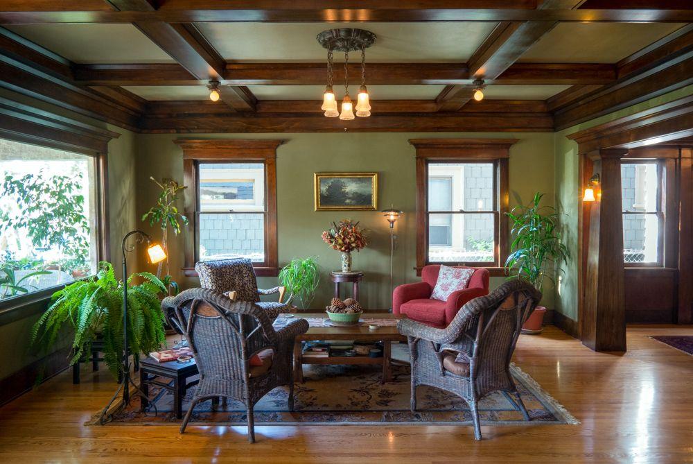 Craftsman Bungalow | Interior Design | Arts U0026 Crafts. OOOOooo, I Love The  Colors In This Interior.