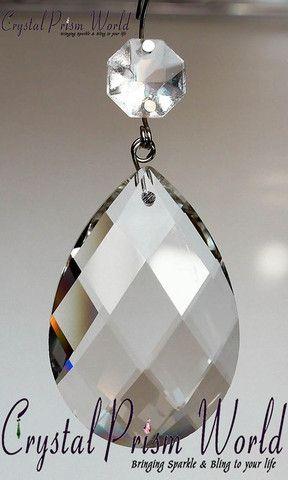 Clear Almond Shape Teardrop Prism Crystal Prisms Crystals