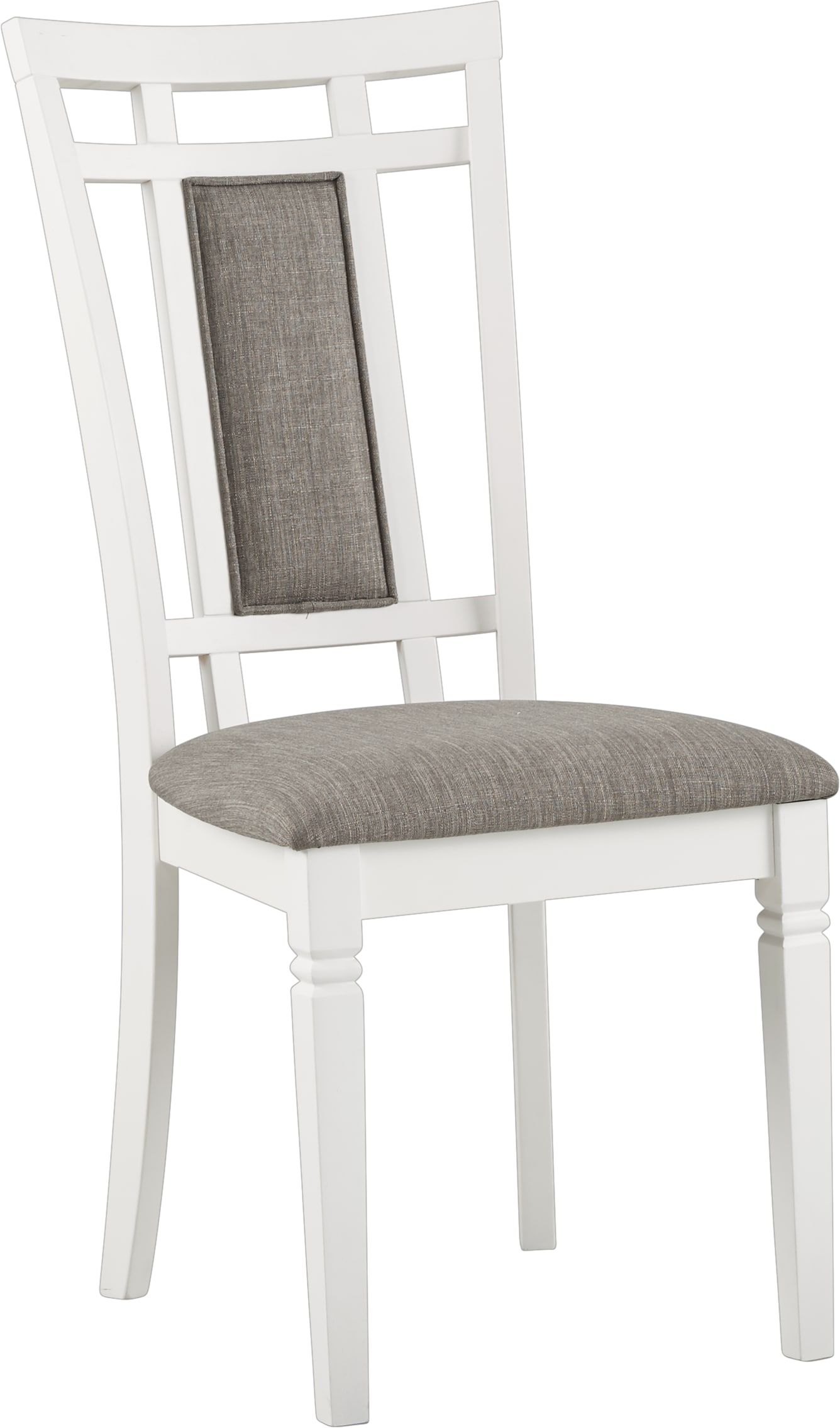 Riverdale White Upholstered Back Side Chair Wooden