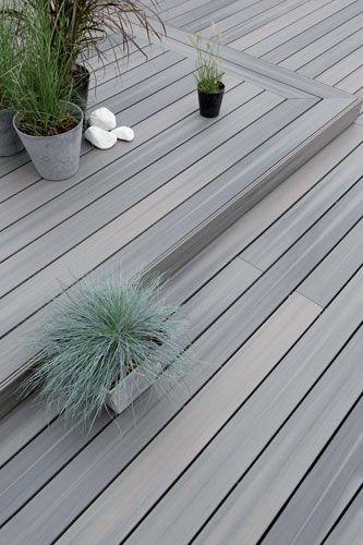 Terrasse bois composite terranova xtrem gris min ral deking pinterest t - Lame terrasse bois gris ...