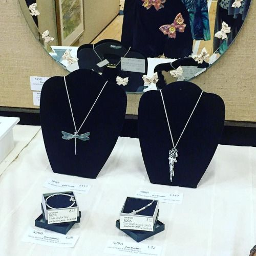 Here are Karls fabulous pieces on display...