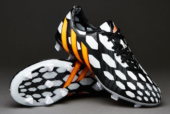 Junior adidas Football Boots - adidas Predator Instinct Jnr FG World Cup  2014 - Firm Ground - Kids Soccer Cleats - Black-Neon Orange-Running White 1d39fa153985f