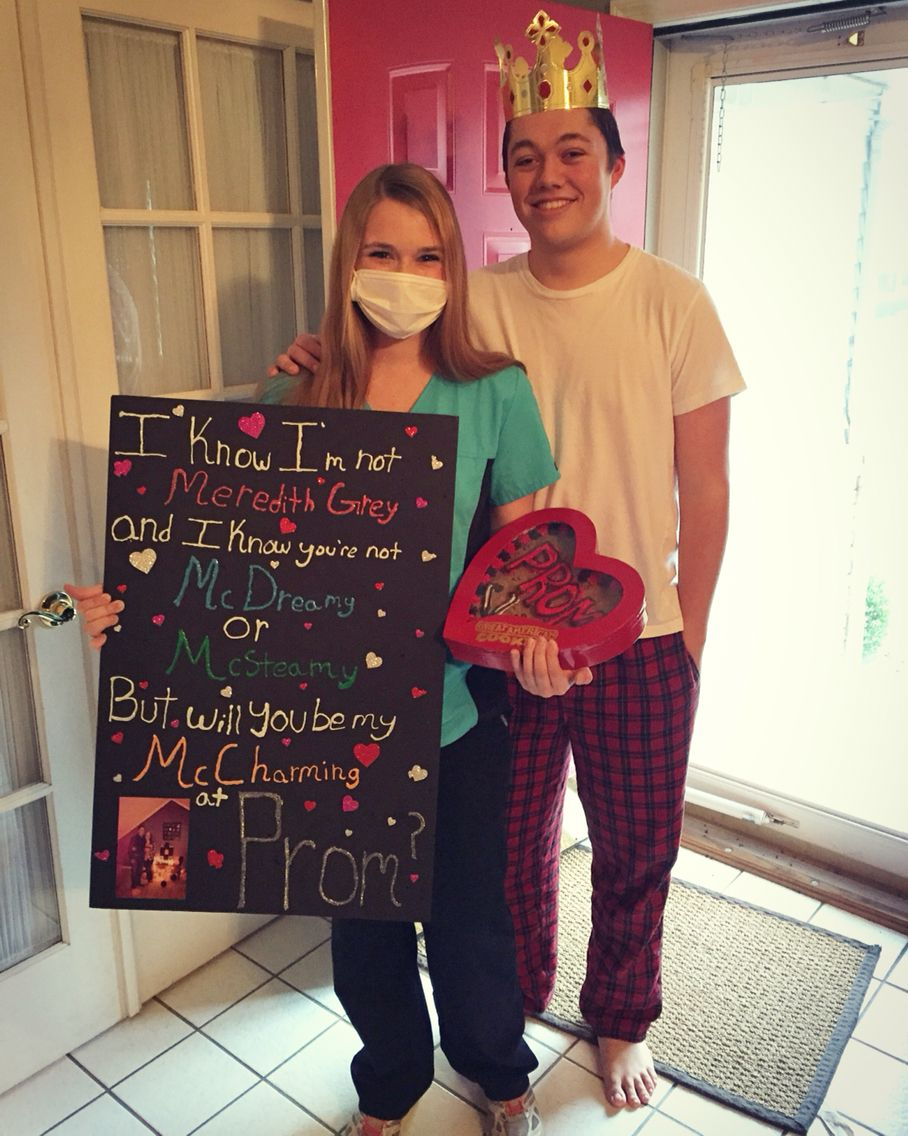 greys anatomy promposal Meredith grey mcdreamy mcsteamy ...
