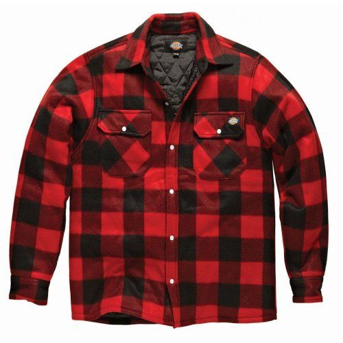 dickies chemise de b cheron rembourr e manches longues homme s rouge dickies http. Black Bedroom Furniture Sets. Home Design Ideas