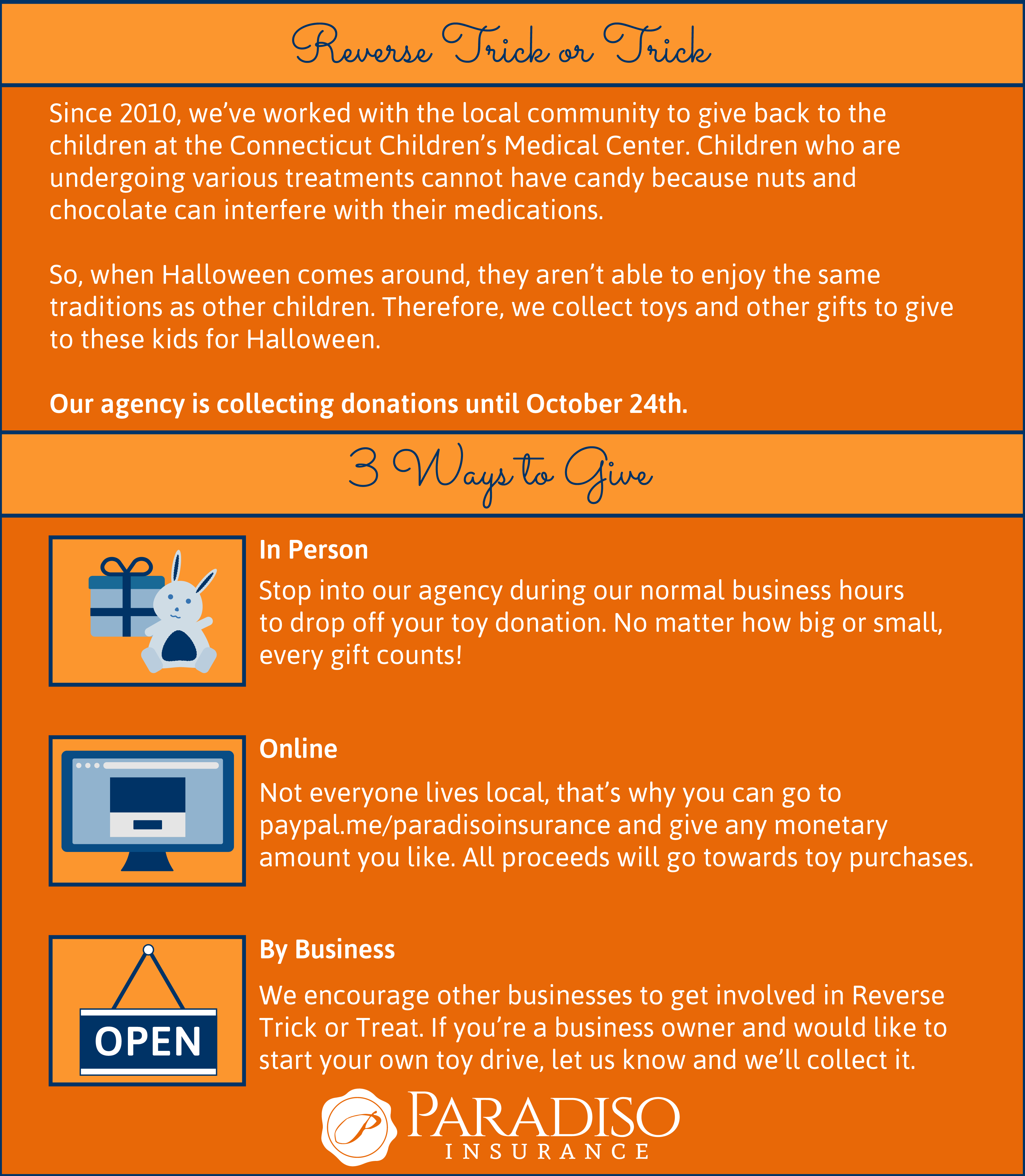 Please Help Us This Year With Reversetrickortreat All Donations